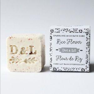 NEW Dot & Lil Sparkling Milk Bath Cube Rice Flower